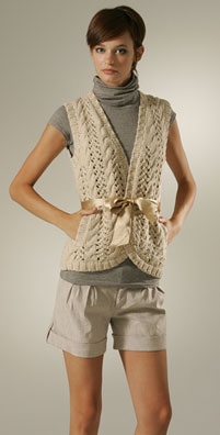 adam+eve Hand Knit Cable Vest