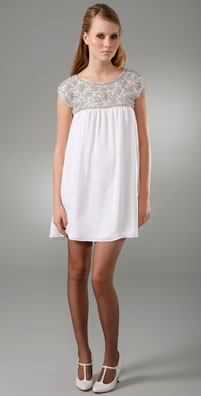 Alice + Olivia Beaded Baby Doll Dress - shopbop.com from shopbop.com