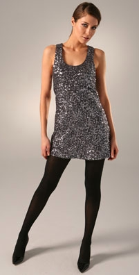 Alice + Olivia Sequin Racer Back Dress