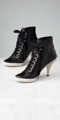 Leather High Heel Sneaker