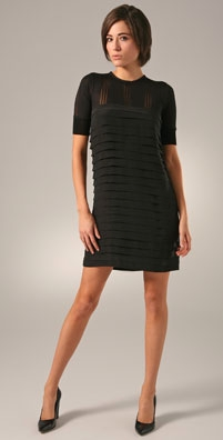 Alexander Wang Striped Silk Dress - shopbop.com from shopbop.com