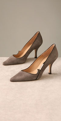 Beatrix Ong Aries Suede Pump with Glitter Piping - shopbop.com