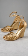 Belle by Sigerson Morrison Faux Snake High Strappy Wedge coupon