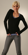 C&amp;C California Extra Long Sleeve Deep V Tee coupon