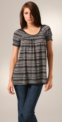 C&C California Burnout Stripe Tara Tunic
