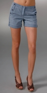 Charlotte Ronson Button Front Cuffed Short coupon