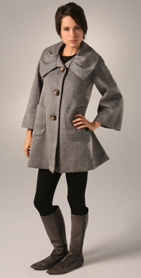 Development Shawl Collar Button Front Coat