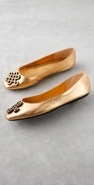 Diane von Furstenberg Shoes Brussels Metallic Love Knot Flat coupon