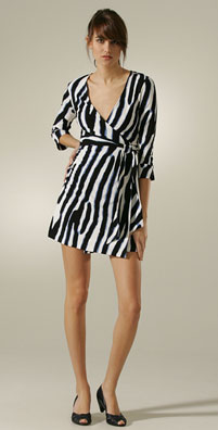 Diane von Furstenberg Julian Mini Wrap Dress