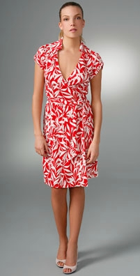 Diane von Furstenberg Jilda Cap Sleeve Wrap Dress