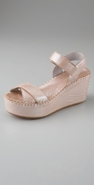 DKNY pure DKNY Savanna Metallic Wedge Sandal coupon
