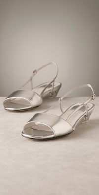 Dolce Vita Metallic Flat Sandal with Lucite Wedge
