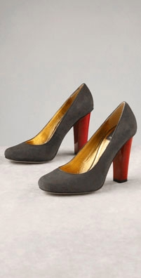 Dolce Vita Stella Suede Pump with Red Heel