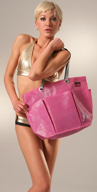 Fabucci by Tote le Monde Pink Beach Tote