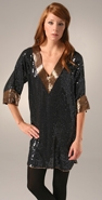 Foley + Corinna Sequin 3/4 Sleeve Dress coupon