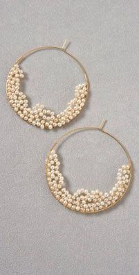 Gara Danielle Clustered Bead Hoop Earrings