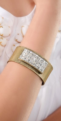Giles & Brother Crystal Applique Cuff