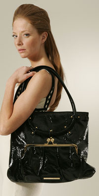 Goldenbleu Luella Patent Leather Tote
