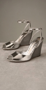 Juicy Couture Footwear Allison Metallic Open Toe Wedge coupon