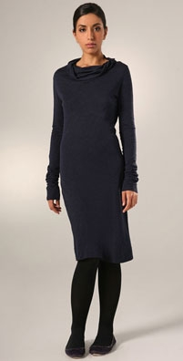James Perse Twist Cowl Neck Dress