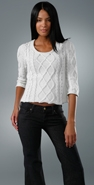 James Perse Crop Cable Sweater coupon