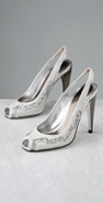 Jill Stuart Shoes Soren Patent Open Toe Pump with Glitter coupon