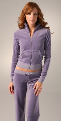 Juicy Couture Velour Long Sleeve Track Jacket