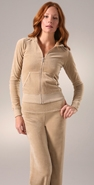 Juicy Couture Neutral Velour Long Sleeve Hoodie coupon