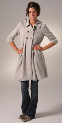 Juicy Couture Pleated Empire Hooded Coat - shopbop.com from shopbop.com