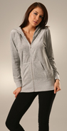 Juicy Couture Heather Velour Long Hoodie coupon