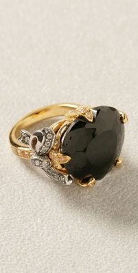 Juicy Couture Size 7, Black Heart Ring - shopbop.com from shopbop.com