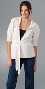 Juicy Couture Half Sleeve Textured Cardigan with Belt coupon