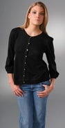 Juicy Couture 3/4 Sleeve Crew Neck Cardigan coupon