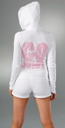 Juicy Couture 'Go Juicy' Logo Fleece Hoodie