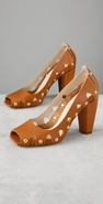 Kalliste Studded Square Open Toe Pump coupon