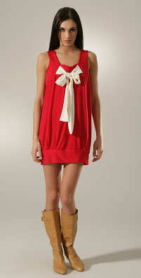 Karen Zambos Vintage Couture Tie Tank Dress