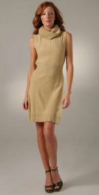 Karen Zambos Vintage Couture Short Cowl Neck Dress