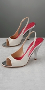Kate Spade Shoes Hart Metallic Linen High Heel Pump coupon