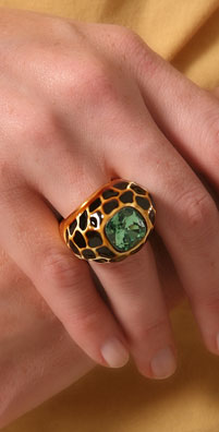 Kenneth Jay Lane Leopard Dome Ring - shopbop.com
