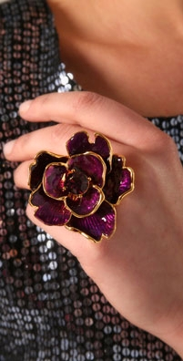 Kenneth Jay Lane Large Flower Ring
