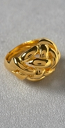 Kenneth Jay Lane Polished Gold Weave Ring coupon