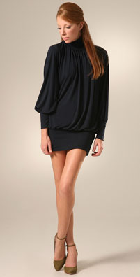 KZ JerZey Turtleneck Mini Dress