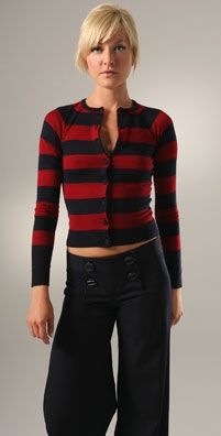 L.A.M.B Stripe Cardigan - shopbop.com from shopbop.com