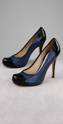 L.A.M.B. Shoes Daniella Cap Toe Hidden Platform Pump