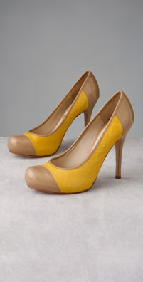 L.A.M.B. Shoes Daniella Cap Toe Hidden Platform Pump - shopbop.com