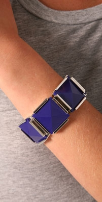 Lee Angel Jewelry Purple Square Stretch Bracelet