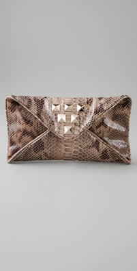 Loeffler Randall Katia Faux Snake Envelope Clutch with Studs - shopbop.com from shopbop.com