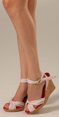 Madison Harding Stripe Cork Wedge - shopbop.com from shopbop.com