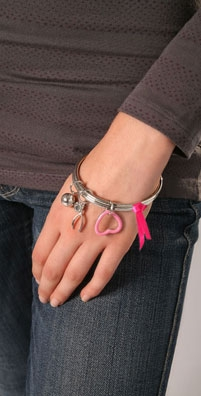 Marc by Marc Jacobs Breast Cancer Awareness Charity Charm Bracelet - shopbop.com from shopbop.com