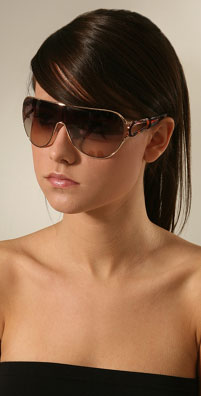 Marc Jacobs Sunglasses Wide Sunglasses with Tortoise Sides
